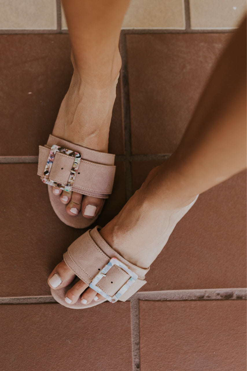 Slip on blush sandals | ROOLEE