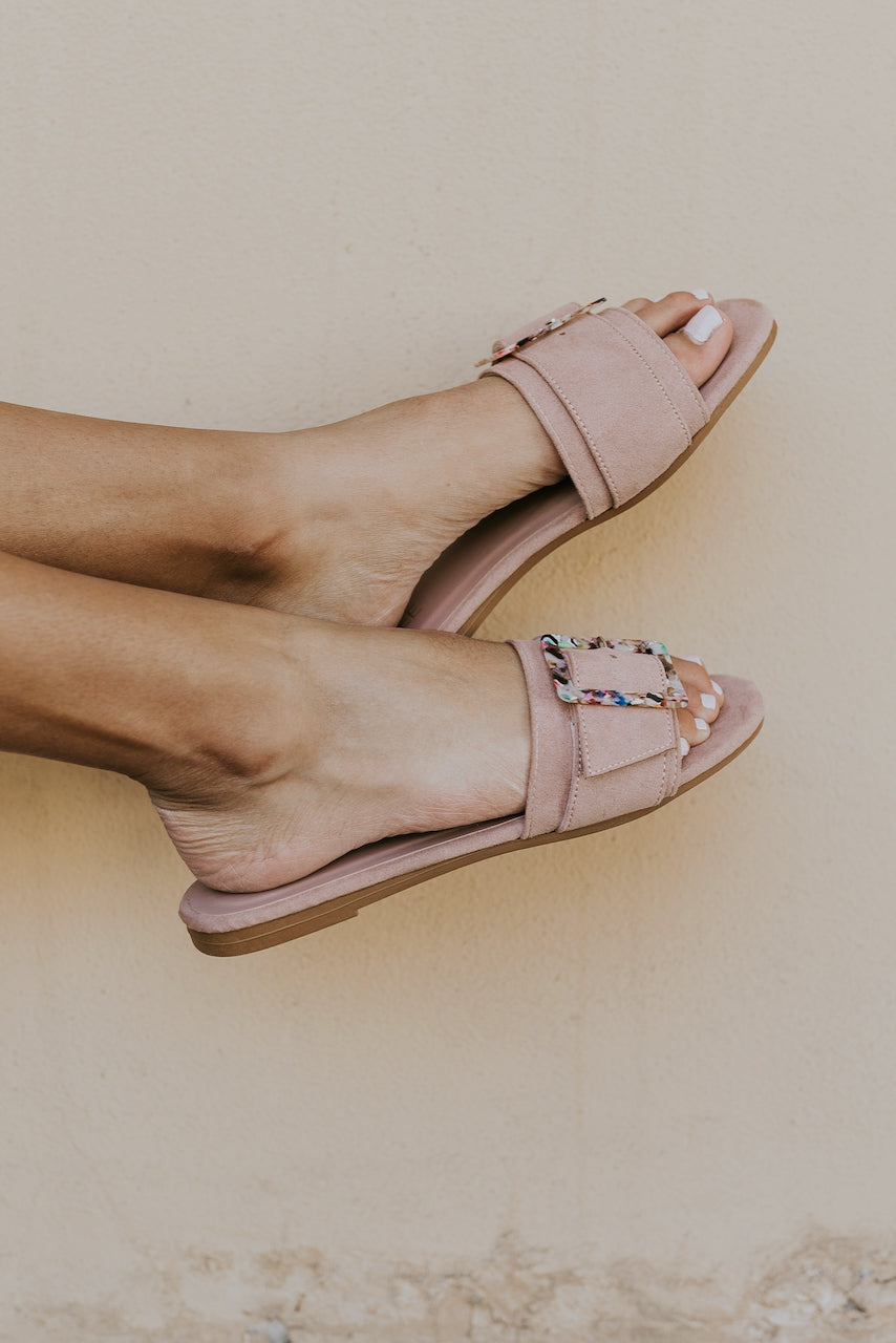 Blush bold slip on sandals | ROOLEE