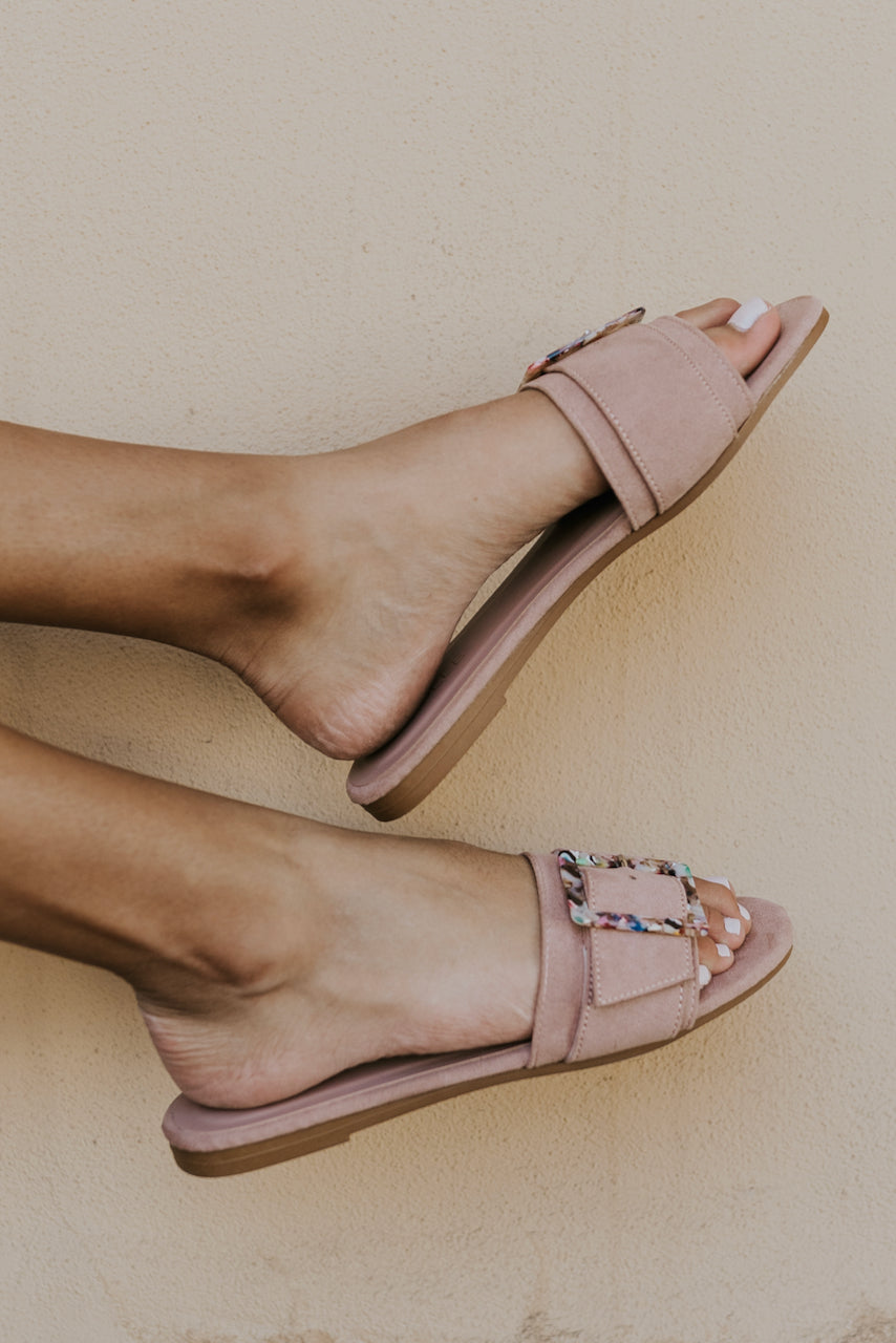 Open back pink sandals | ROOLEE