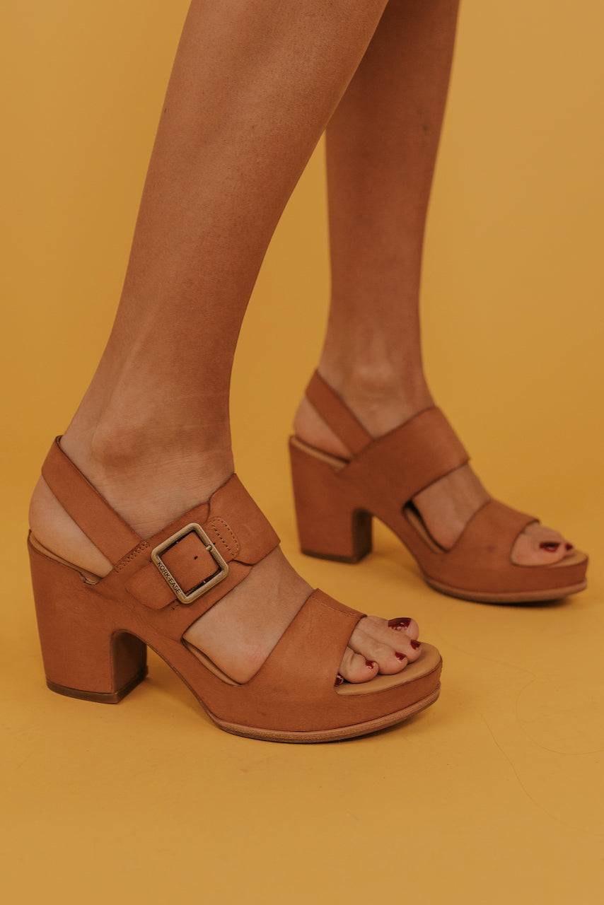 Brown Buckle Heels | ROOLEE