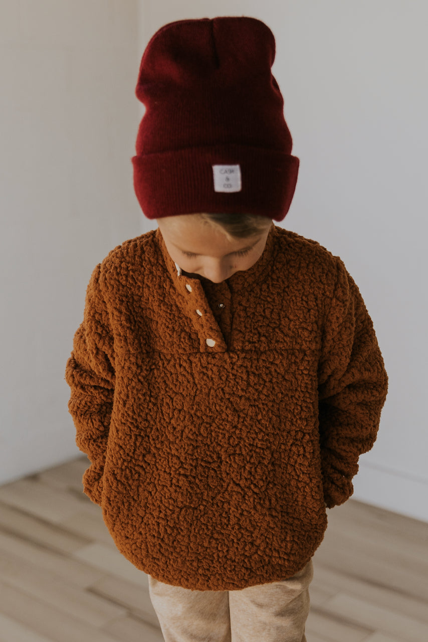Sherpa pullover for kids christmas | ROOLEE