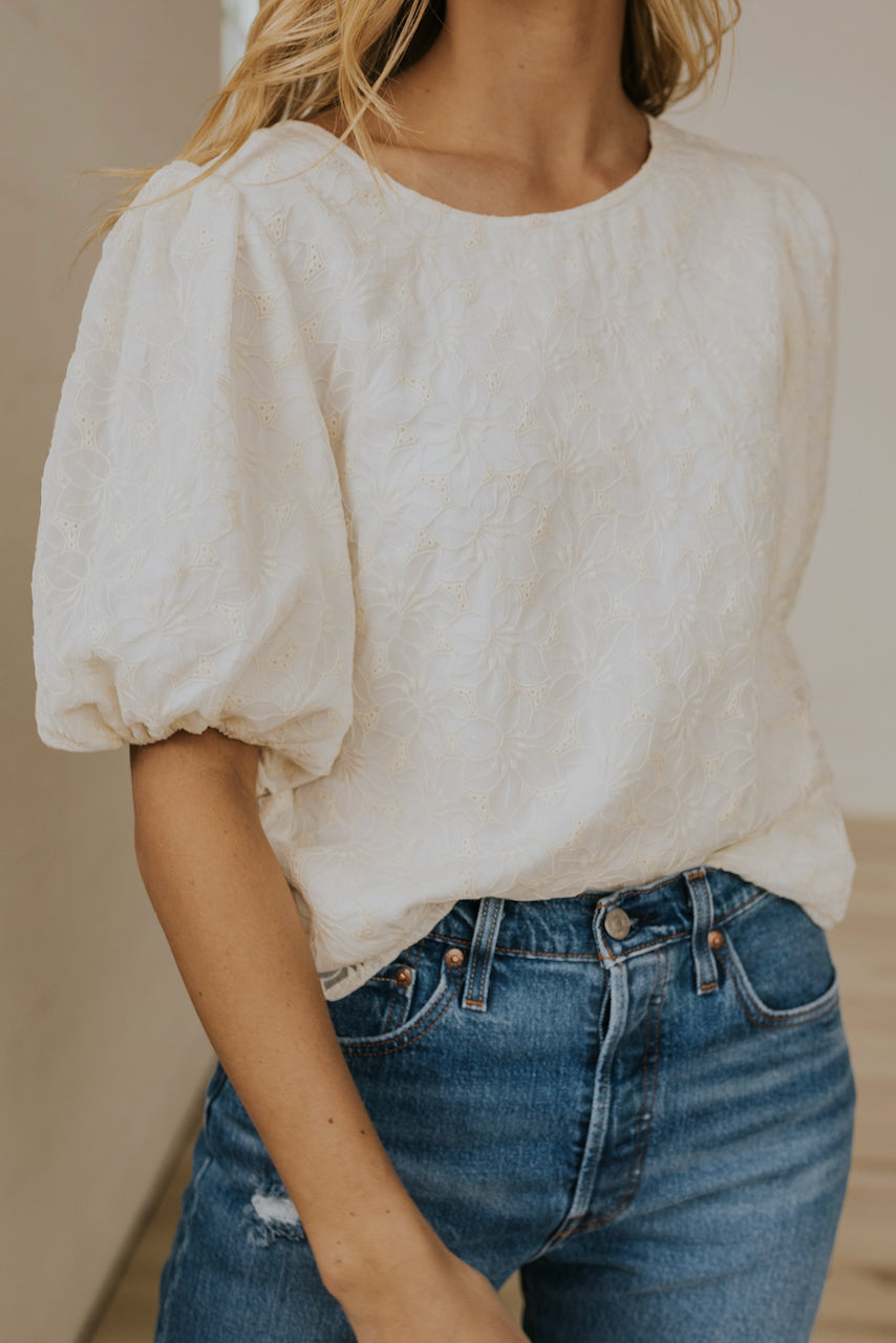 Cream Spring Blouse | ROOLEE