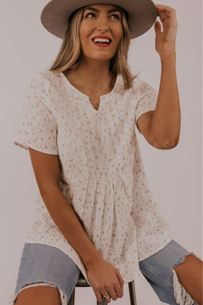 White spring blouses for floral | ROOLEE