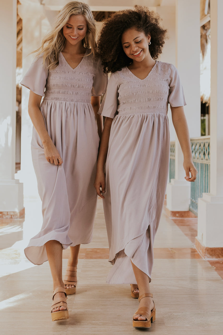 Light Gray Spring Bridesmaid Dresses | ROOLEE