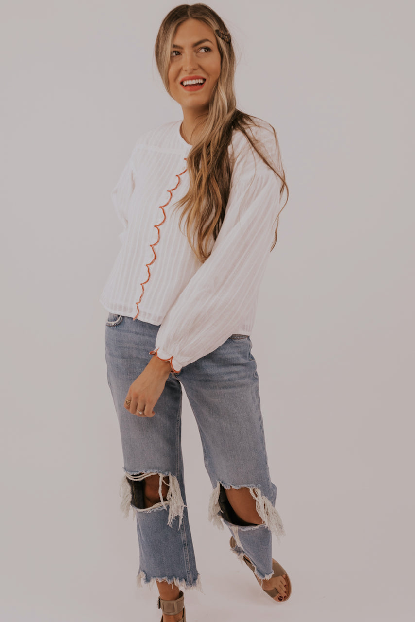 White Long Sleeve Tee | ROOLEE