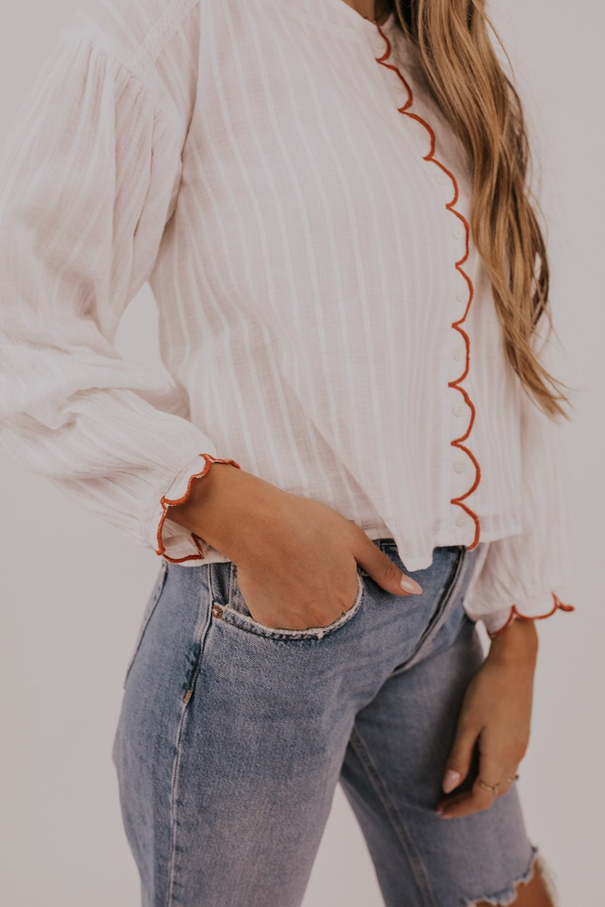 Cute Feminine Detail Top | ROOLEE