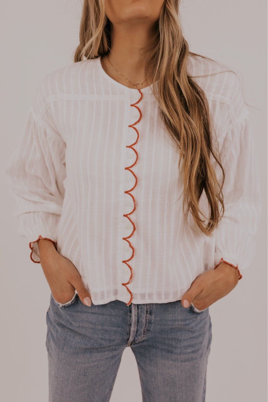 Red Detail Blouse | ROOLEE