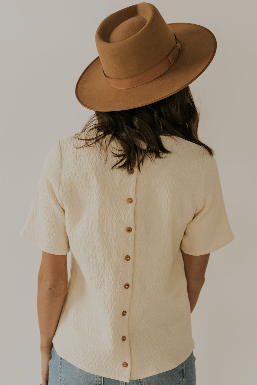 Button back ivory top | ROOLEE