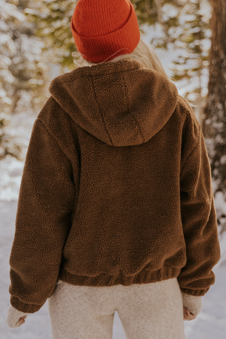 Chunky Teddy Hooded Jacket | ROOLEE