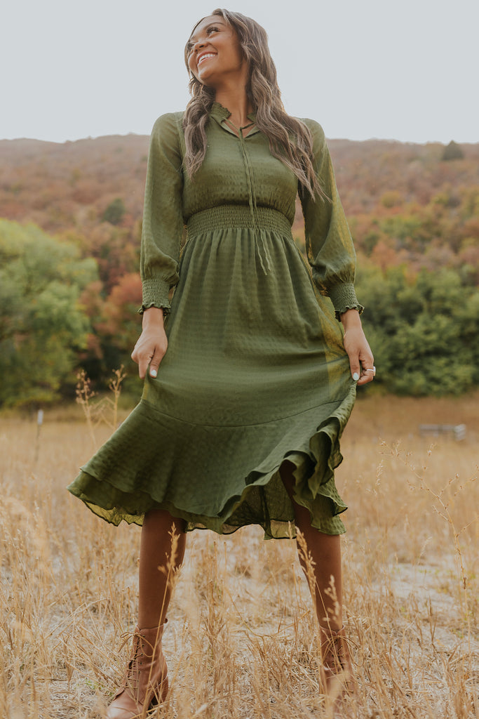 Cute green dresses | ROOLEE