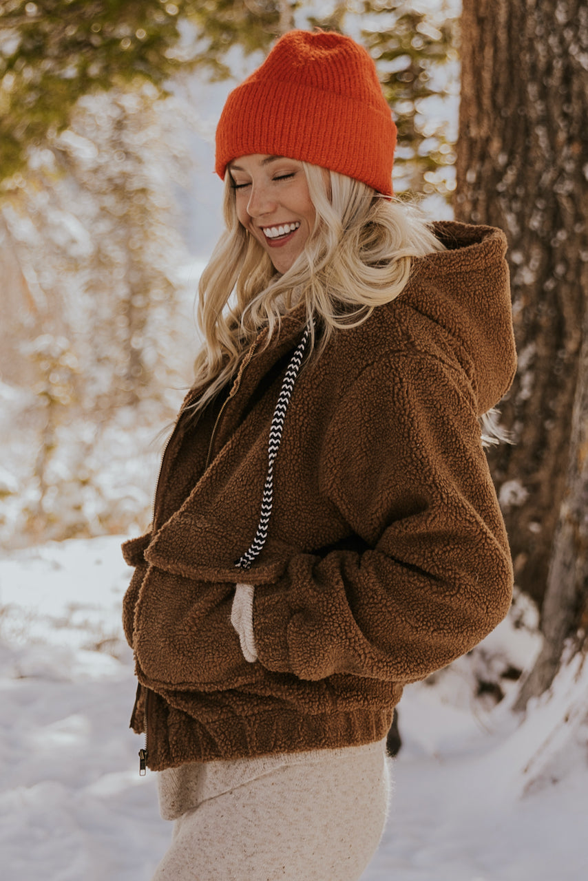 Hooded Sherpa Teddy Coat | ROOLEE