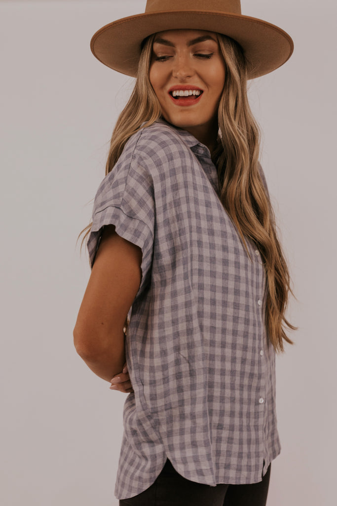 Checkered Modest Top | ROOLEE