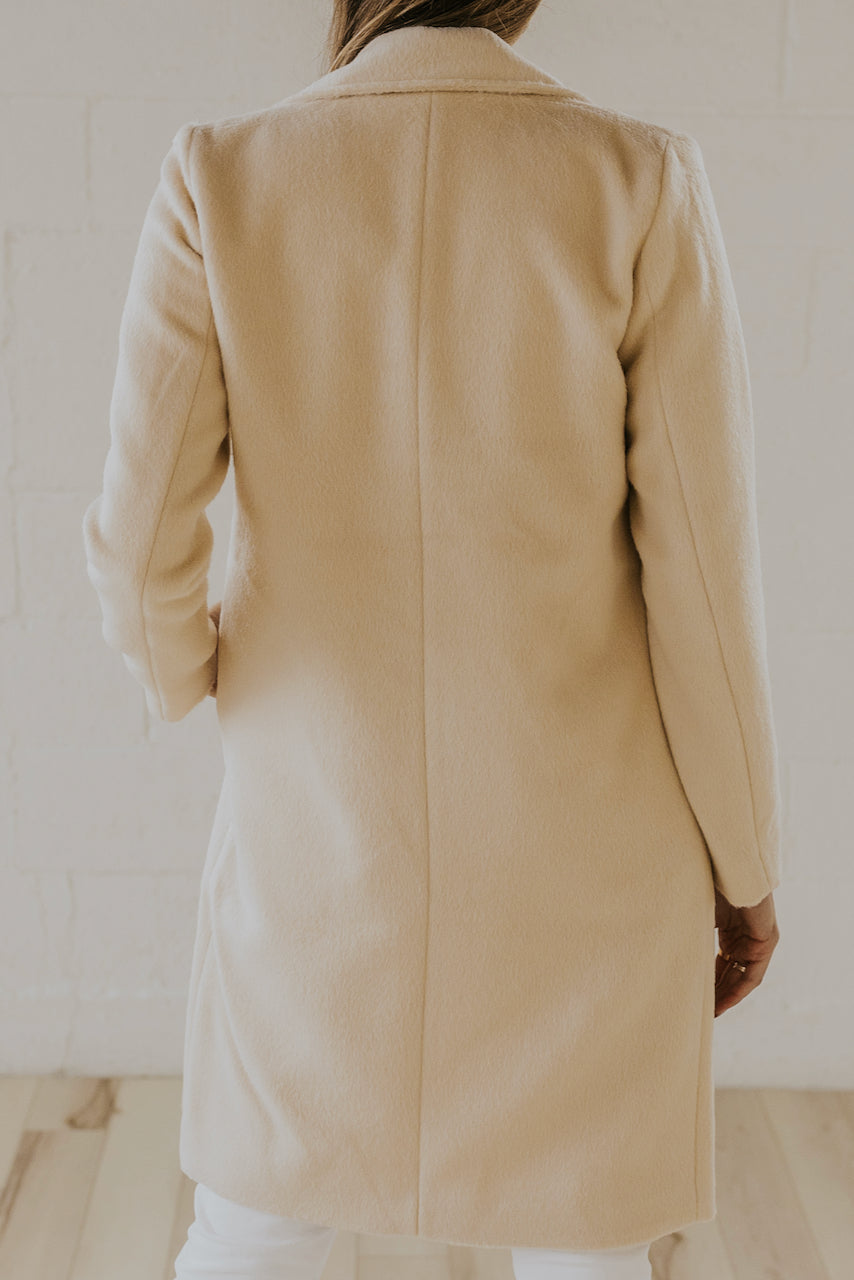Elegant Cream Coat | ROOLEE