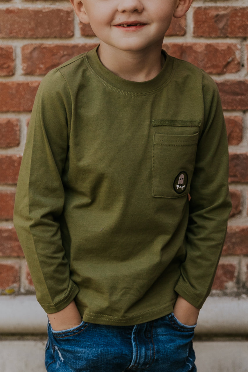 Olive Green Shirts for Boys Warm Winter Outfits | ROOLEE