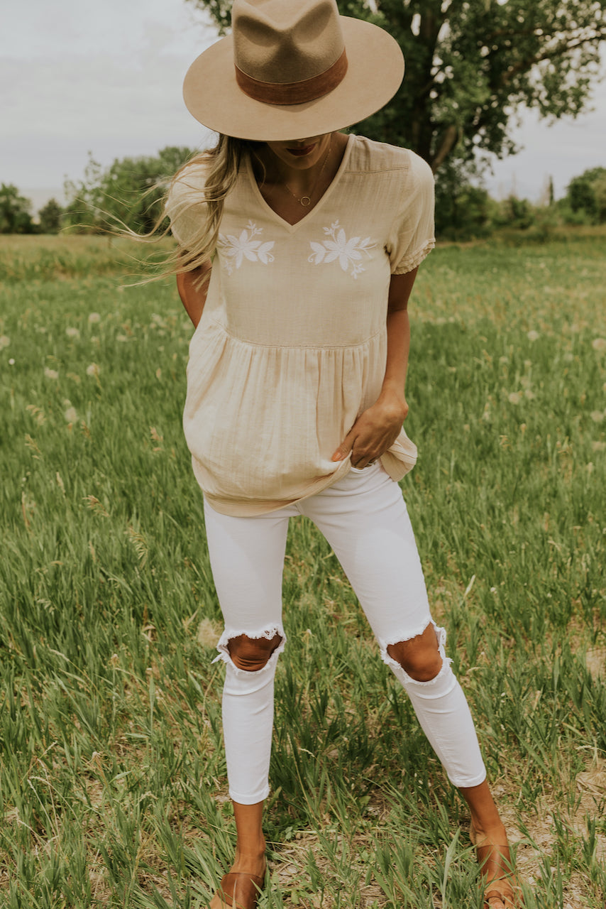 Yellow cream blouses | ROOLEE
