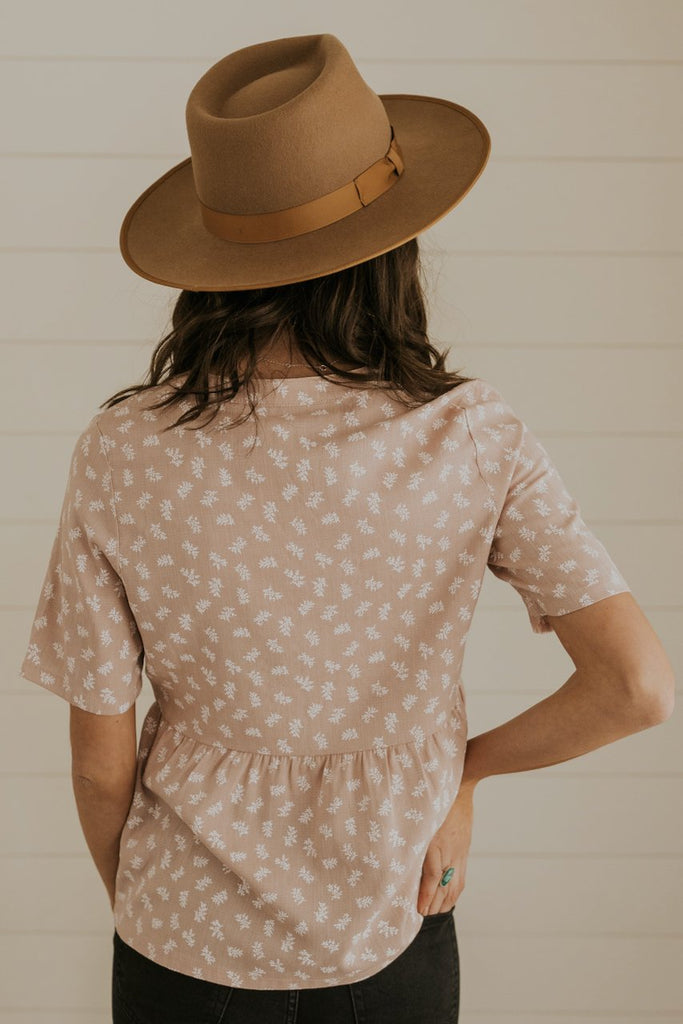 Light pink babydoll blouse | ROOLEE