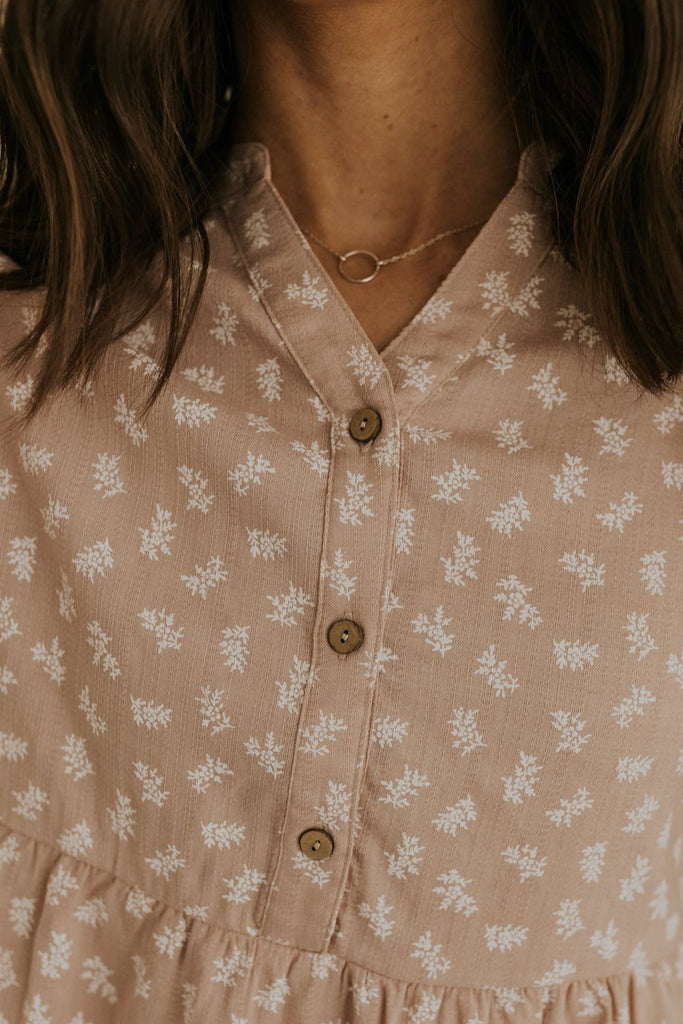 modest babydoll button up tops | ROOLEE