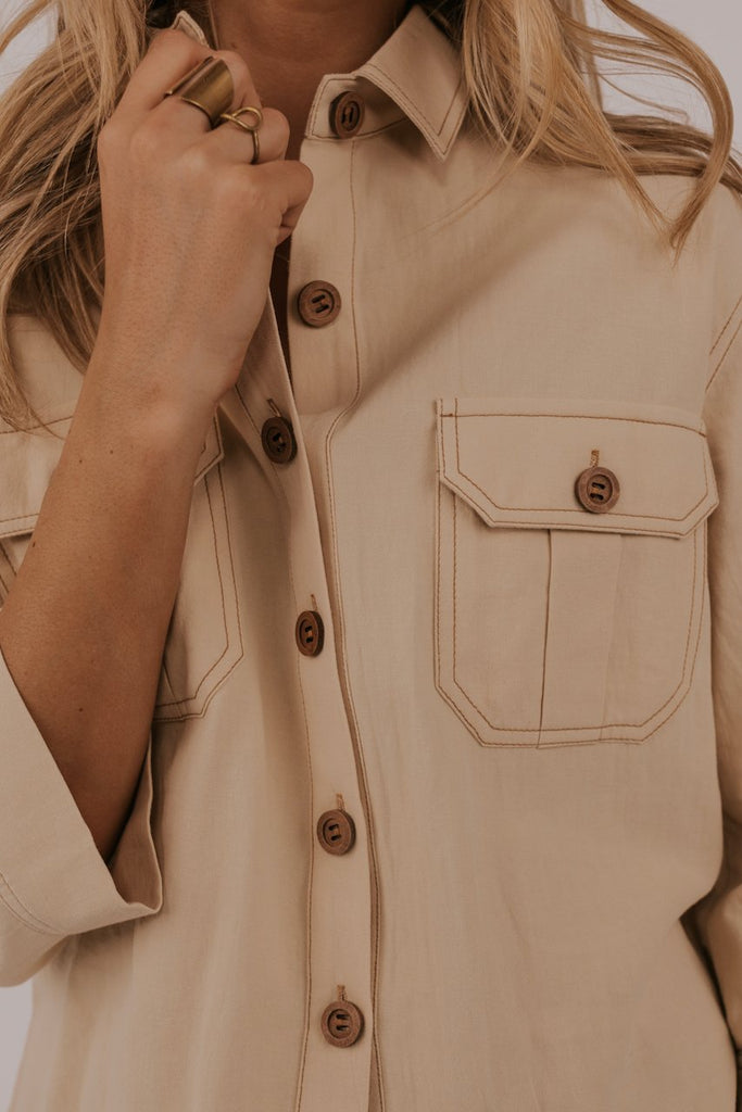 Pocket button up top | ROOLEE