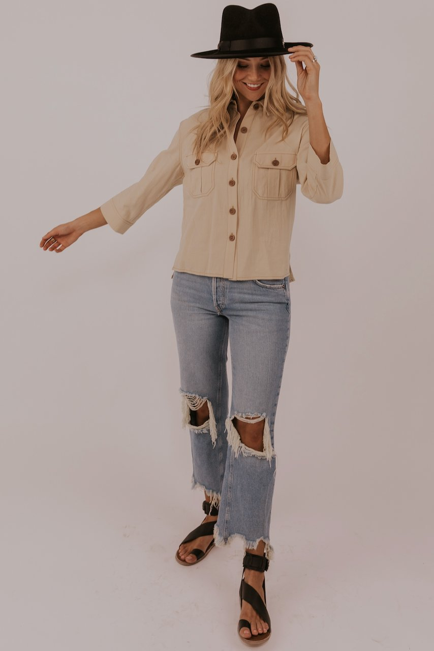 Casual styled button up blouses | ROOLEE
