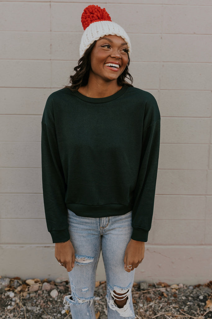 Green Long Sleeve Pullover | ROOLEE