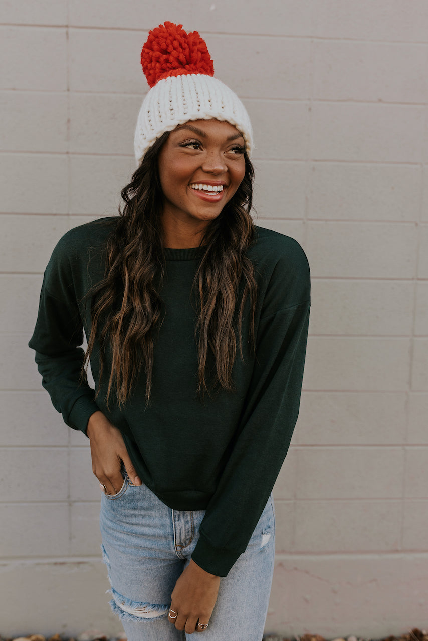 Evergreen Pullover with Hat