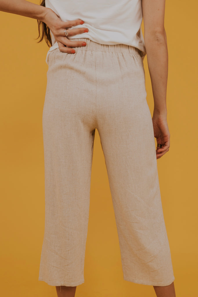 Cropped linen pants | ROOLEE