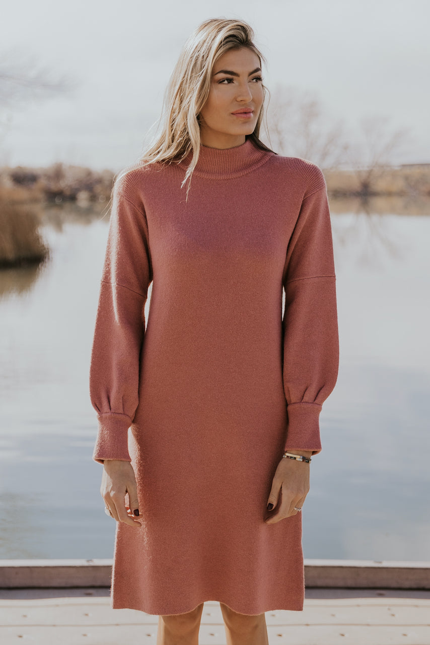 Cute long sleeve sweater dresses for women | ROOLEE