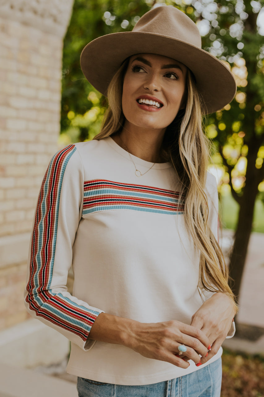 Lawrence Stripe Detail Top