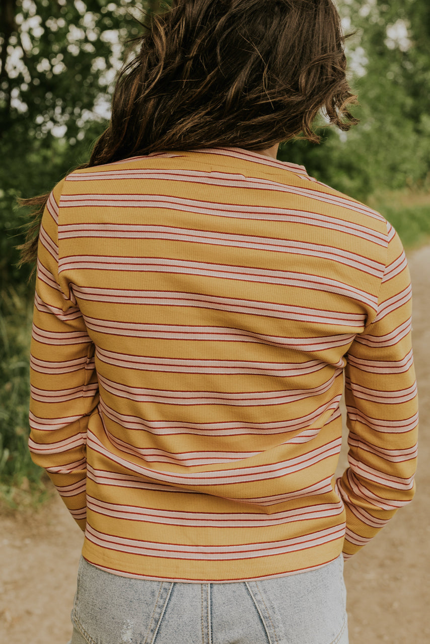 Mustard and Striped Pajama Top | ROOLEE