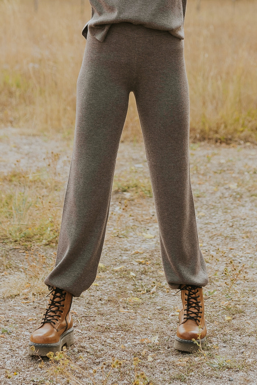 Gray wool knit lounge pants | ROOLEE
