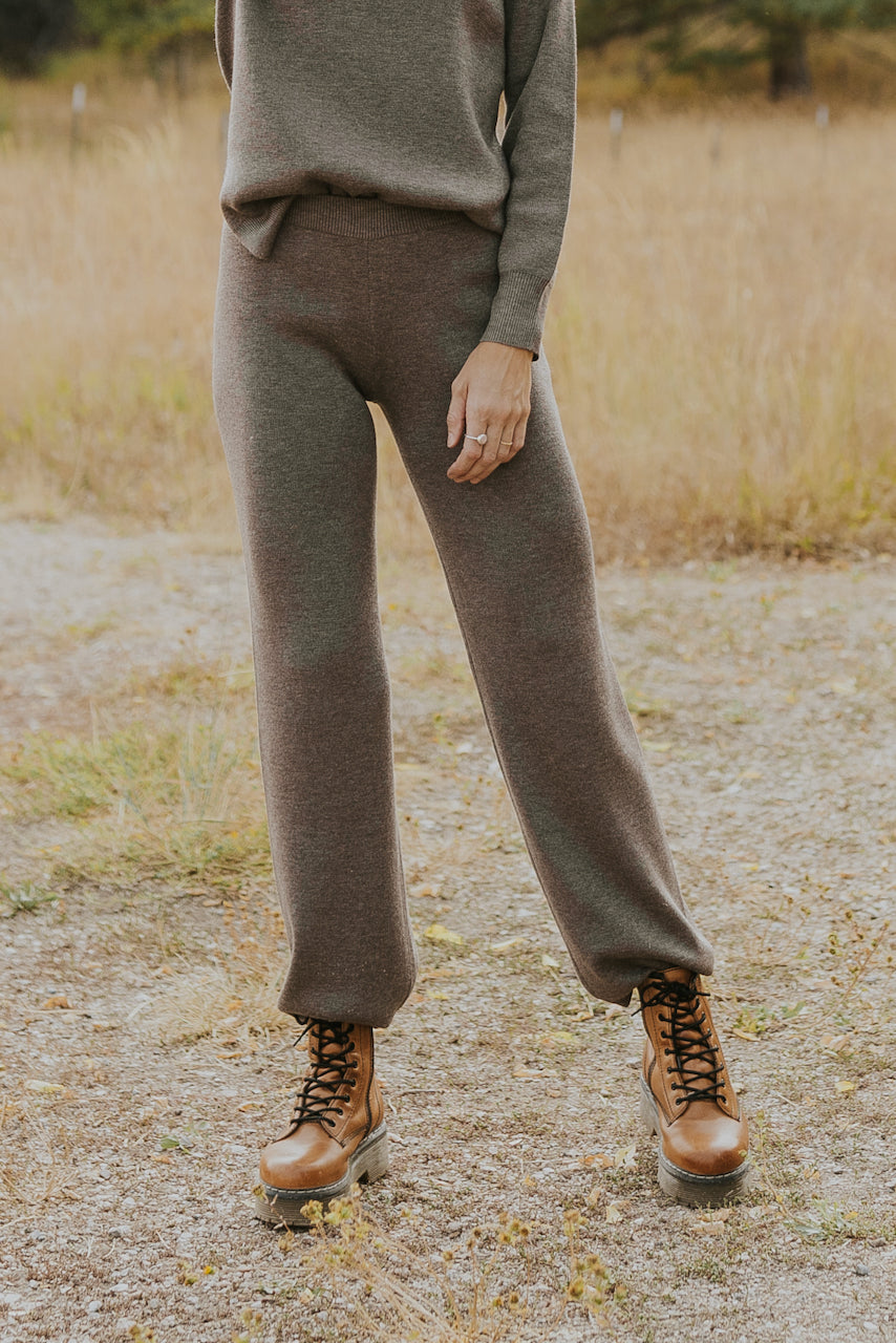 Wool knit gray pants | ROOLEE