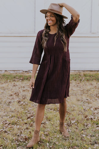 Purple crinkle dress | ROOLEE
