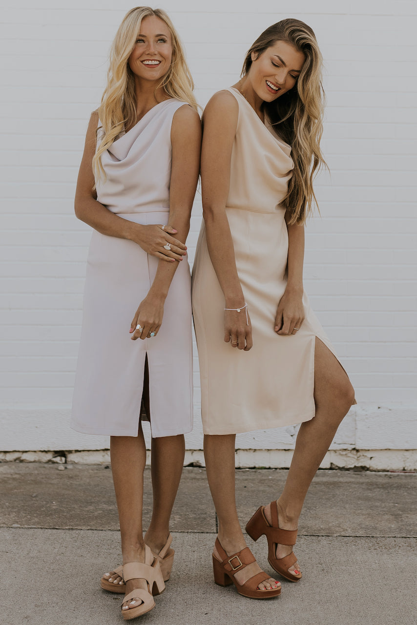 Soft neutral bridesmaid dresses | ROOLEE