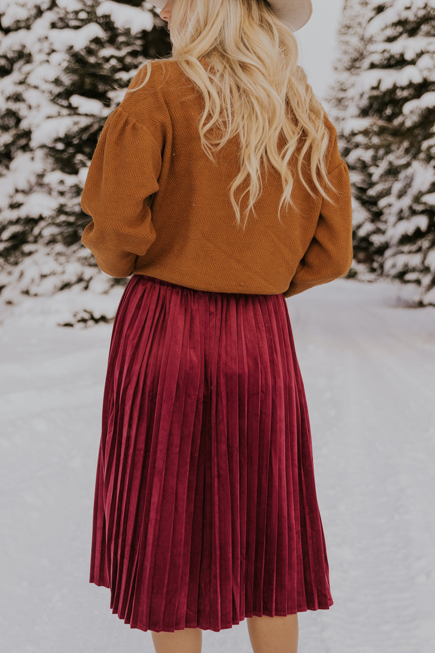 Red Velvet Skirt for Christmas | ROOLEE