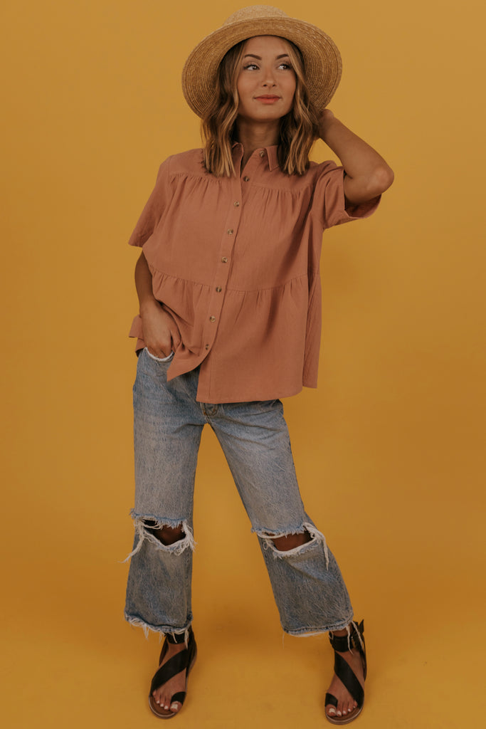 Spring Button Blouse | ROOLEE