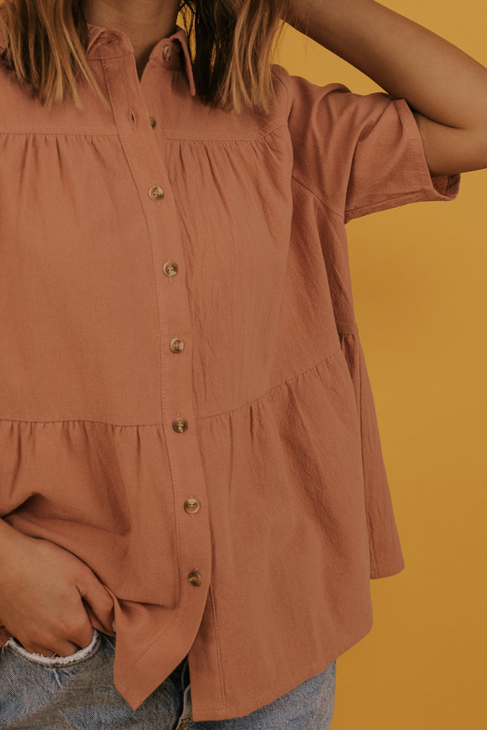 Salmon Colored Blouse | ROOLEE