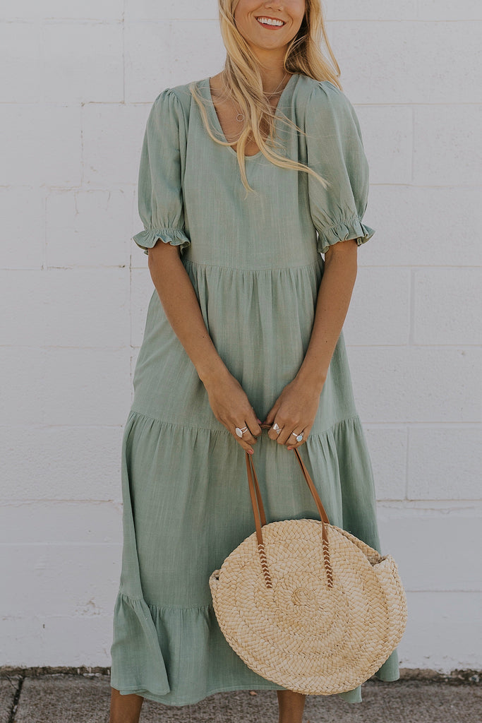 Mint green bridesmaid dress | ROOLEE