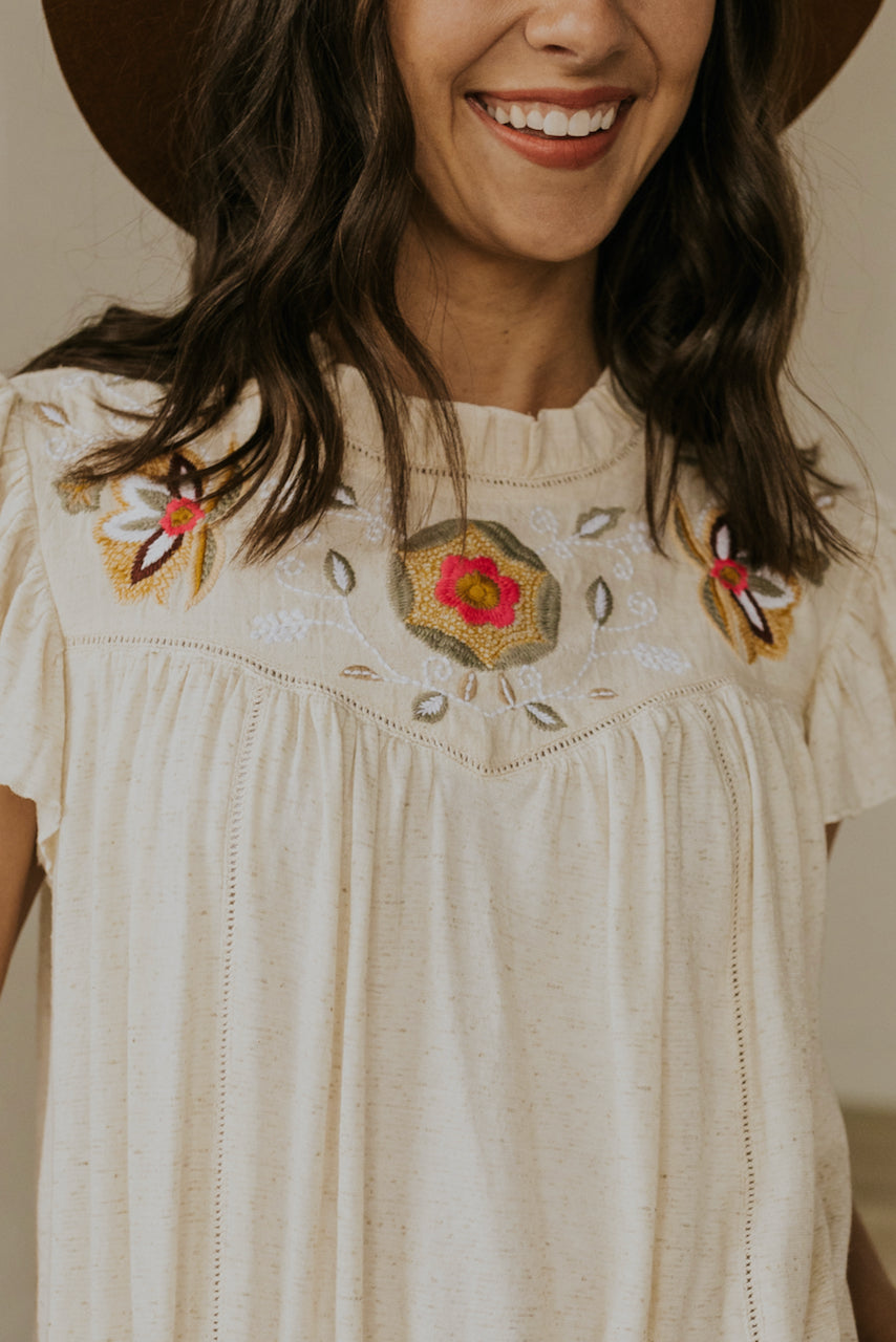 Embroidered blouse | ROOLEE