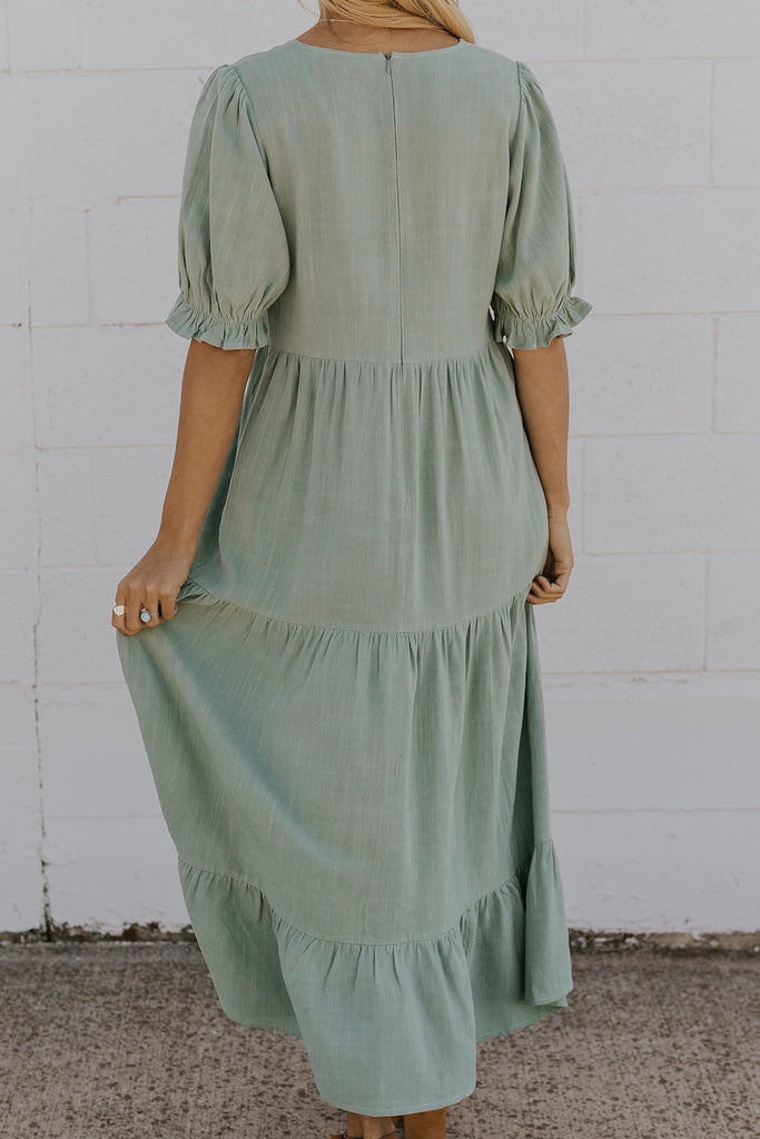 Elegant vintage mint green dress | ROOLEE