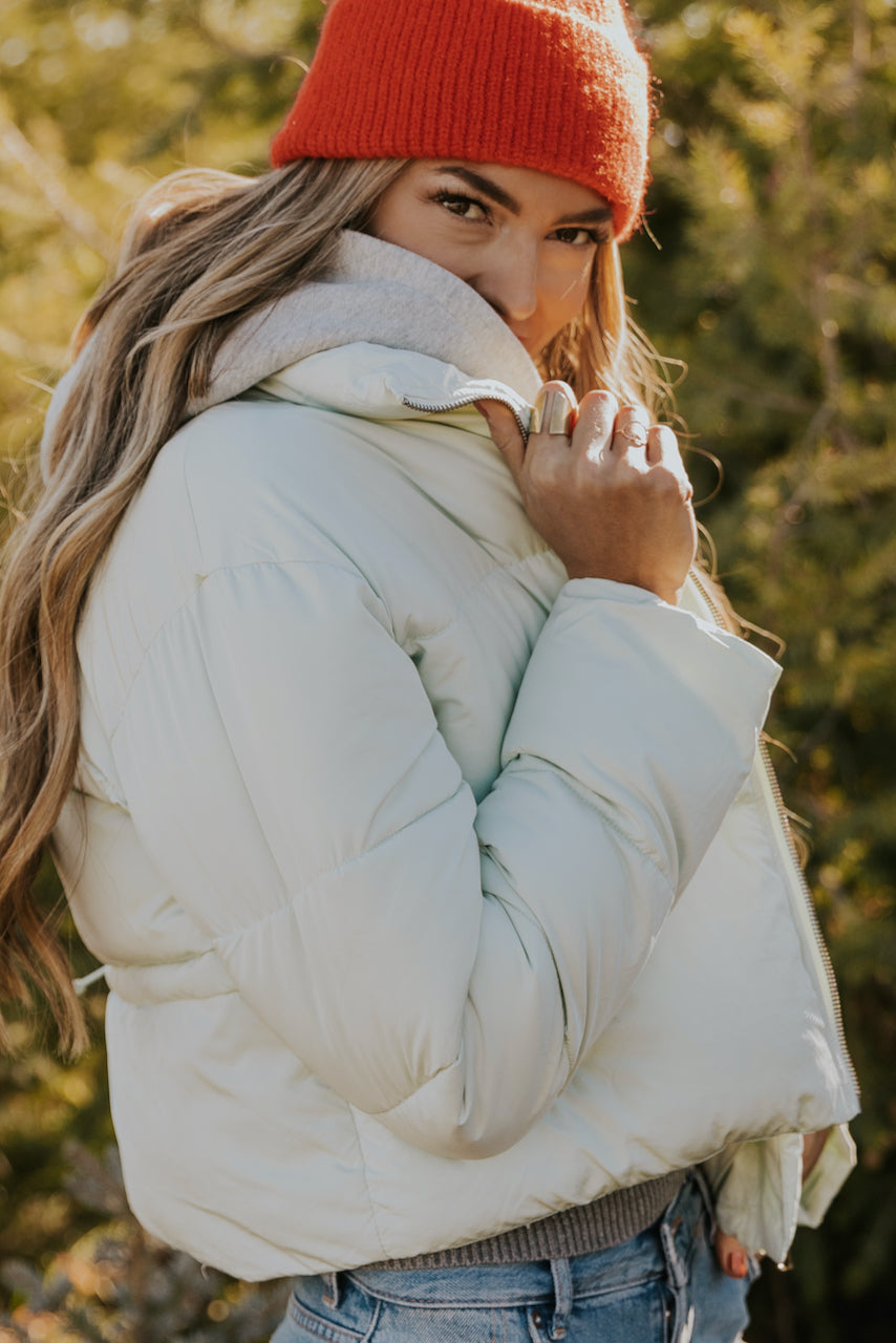 Winter Puffer Coat Back Detail | ROOLEE