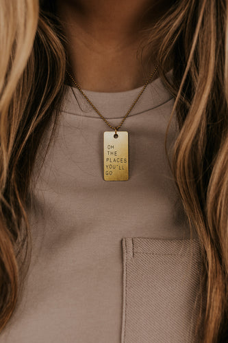 Stamped Pendant Necklace | ROOLEE