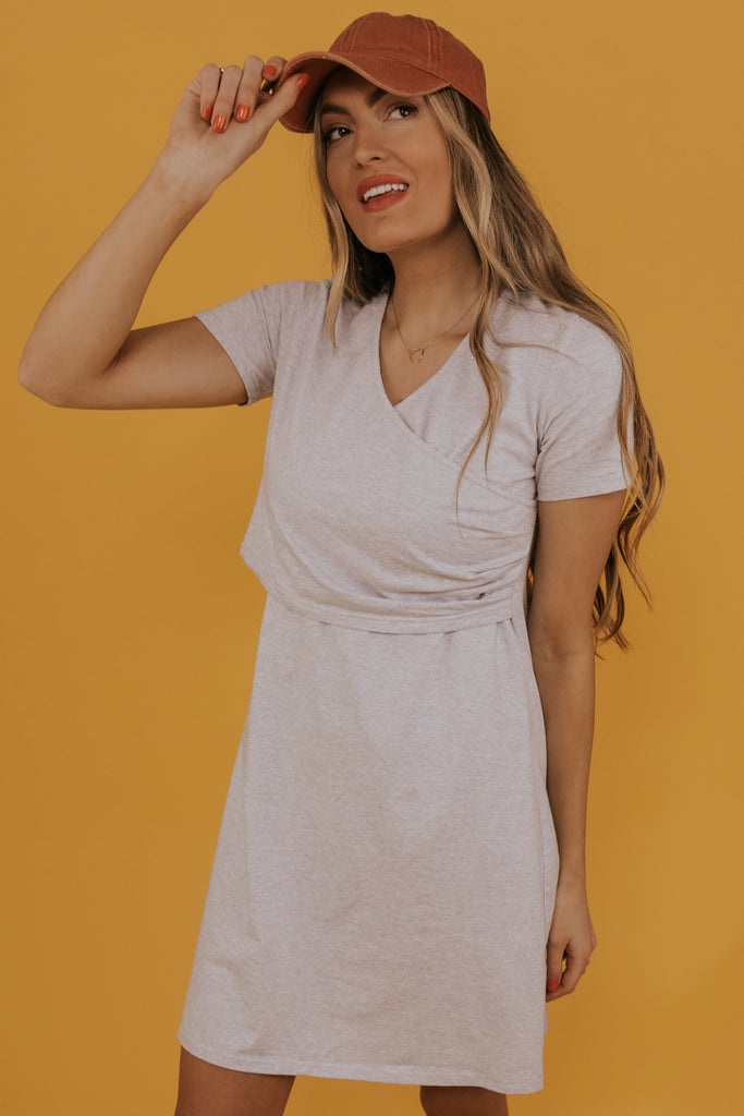 A line wrap front mom dresses | ROOLEE