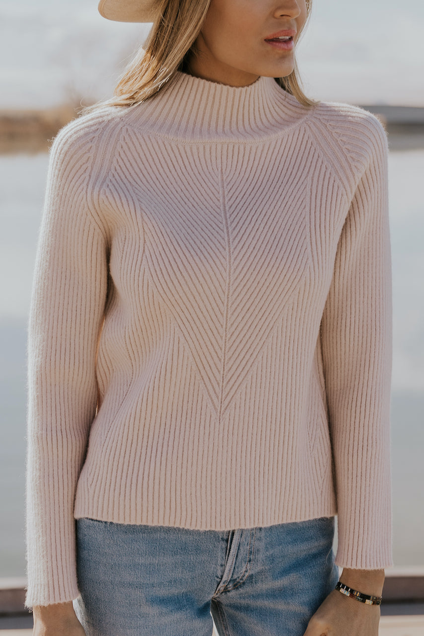 Cream Textured Sweater | ROOLEE