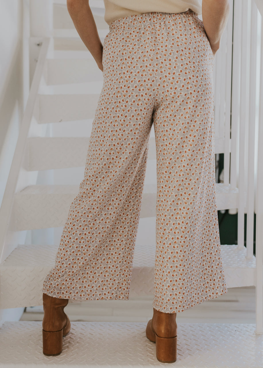 Wide leg fabric pants | ROOLEE