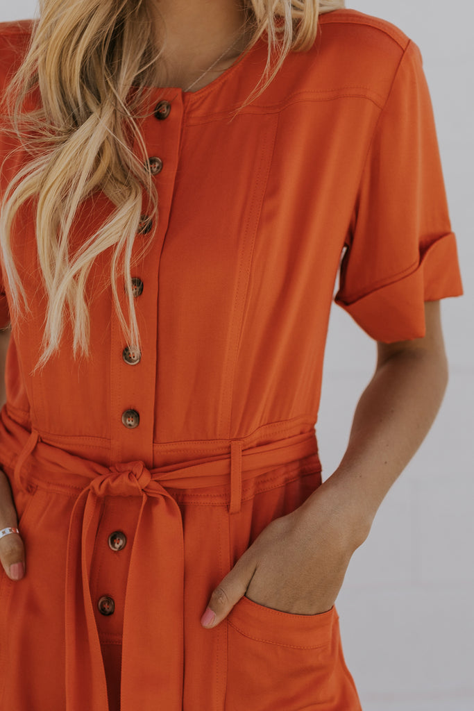Short Sleeve Cute Jumpsuit Outfits | ROOLEE
