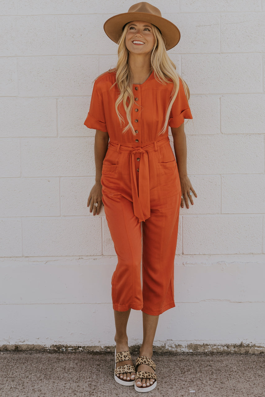 Red Button Up Jumpsuits | ROOLEE