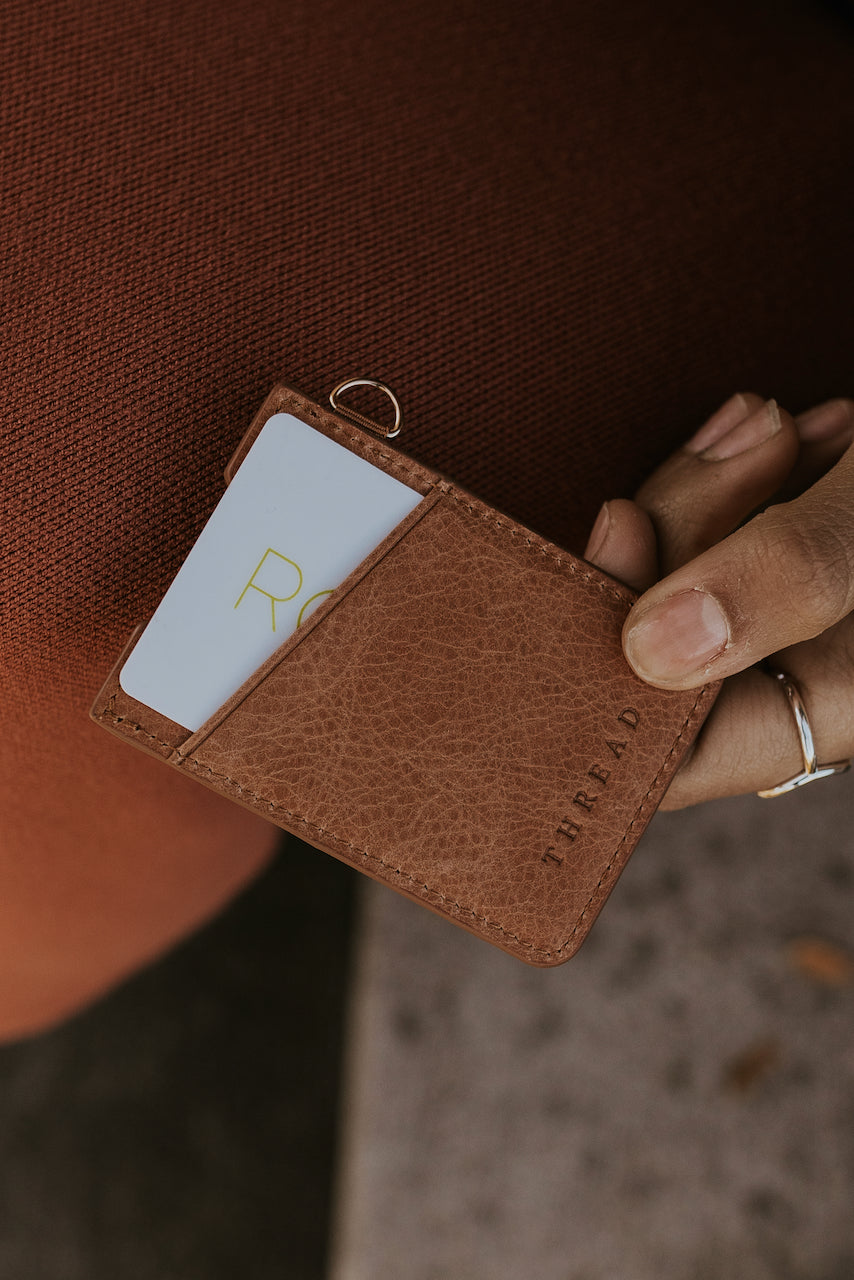 Thread Leather Card Holder