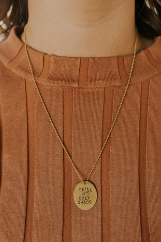 Cute Brass Simple Pendant Necklace | ROOLEE