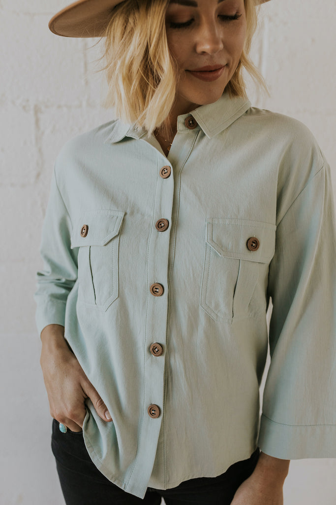 The West Crop Button Up