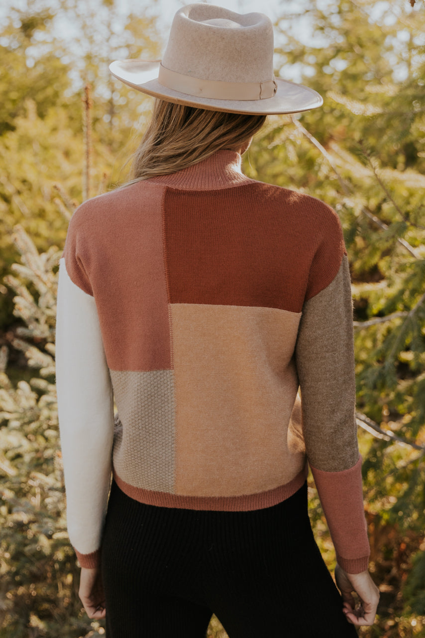 Warm colorblock sweater for women | ROOLEE